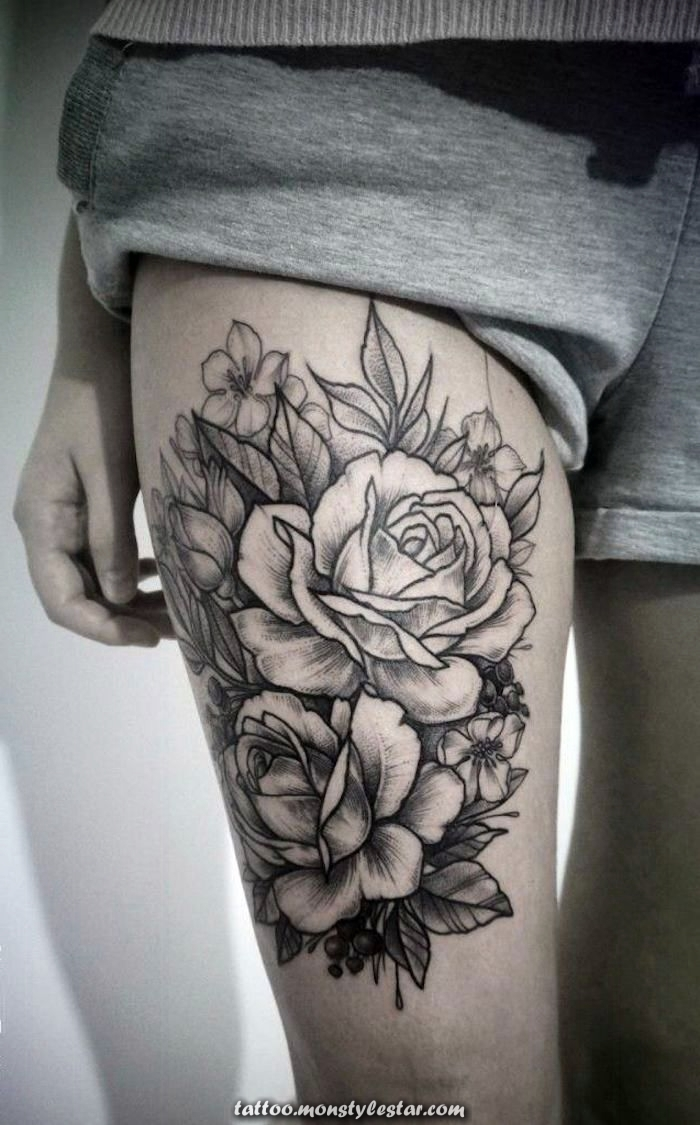 ▷ 1001+ Ideas and inspirations for a tattoo of thighs - Sophie Hoffman ...