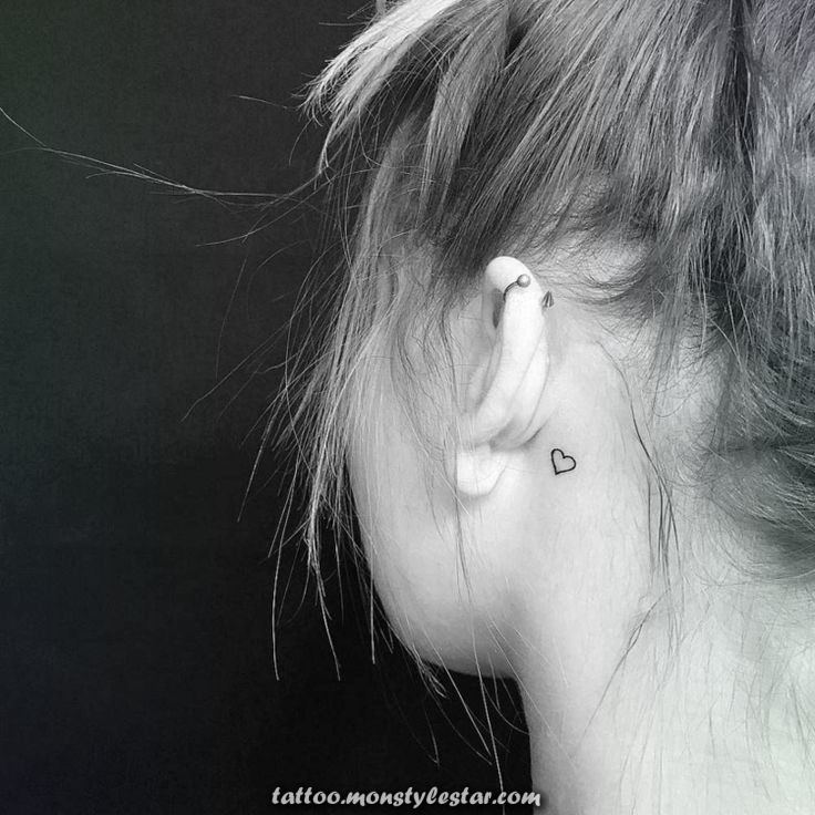 Small tattoo motifs for women behind the ear: great and varied ideas ...