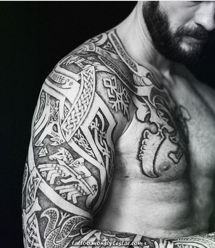 ▷ 1001 realistic and fresh Viking tattoos to inspire - Grimnir Tyrson