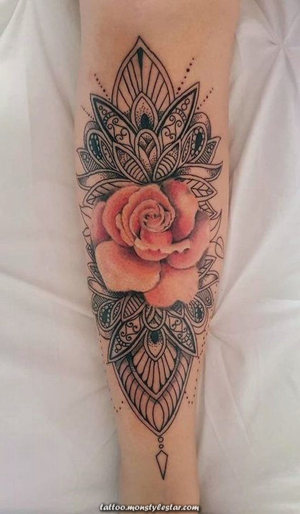 Tattoo ideas for the forearm of Mandala unique, watercolor, tribal and cool for women