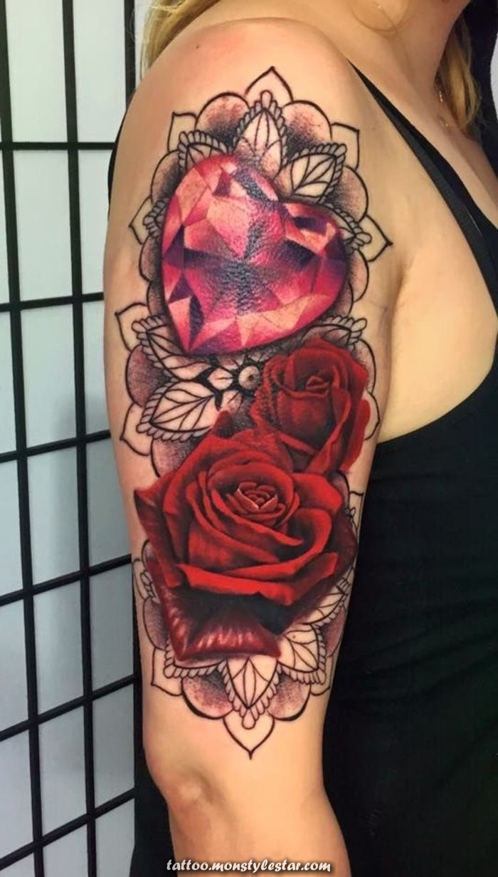 ▷ 1001 + inspirational ideas and images on the topic of roses tattoo - Christopher