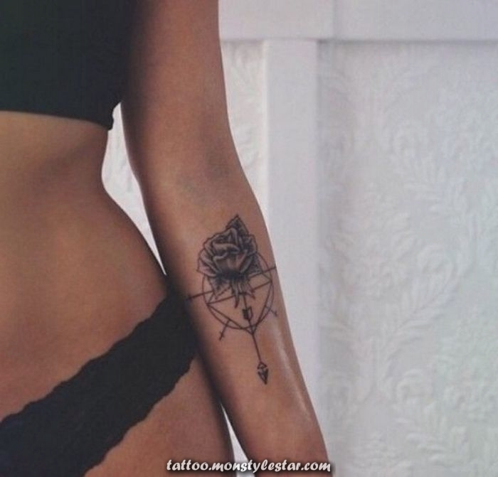 ▷ 142 + inspirational ideas and photos about Compass Tattoo! - Anita Urbac ...