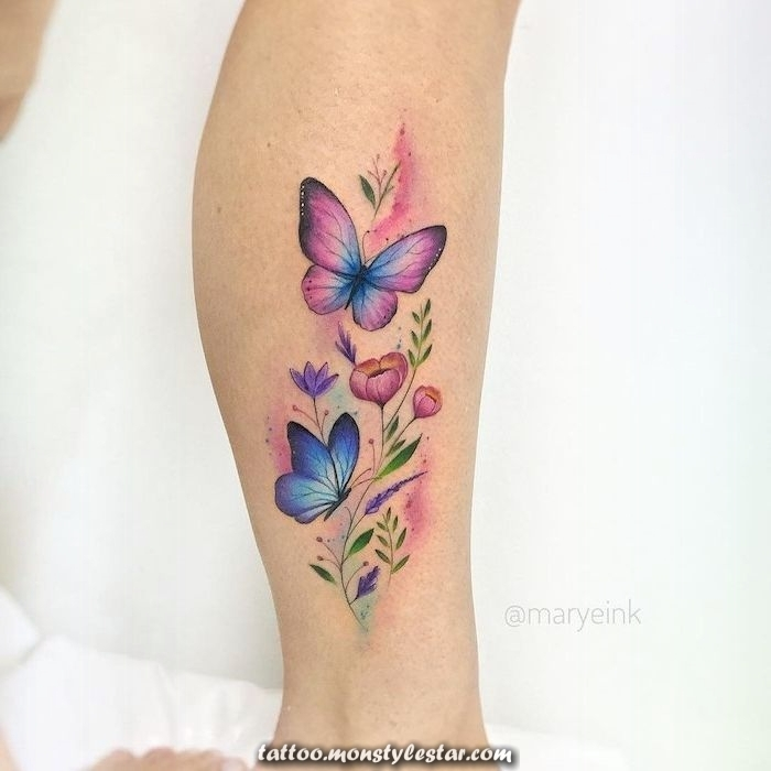 ▷ 1001 + Ideas for tattoos on the foot, ankle or calf - Sophie Hoff ...