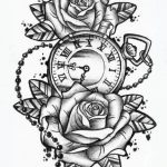 Rose with pocket watch tattoo sale! Up to 75% discount! Shop at Stylizio for women ...