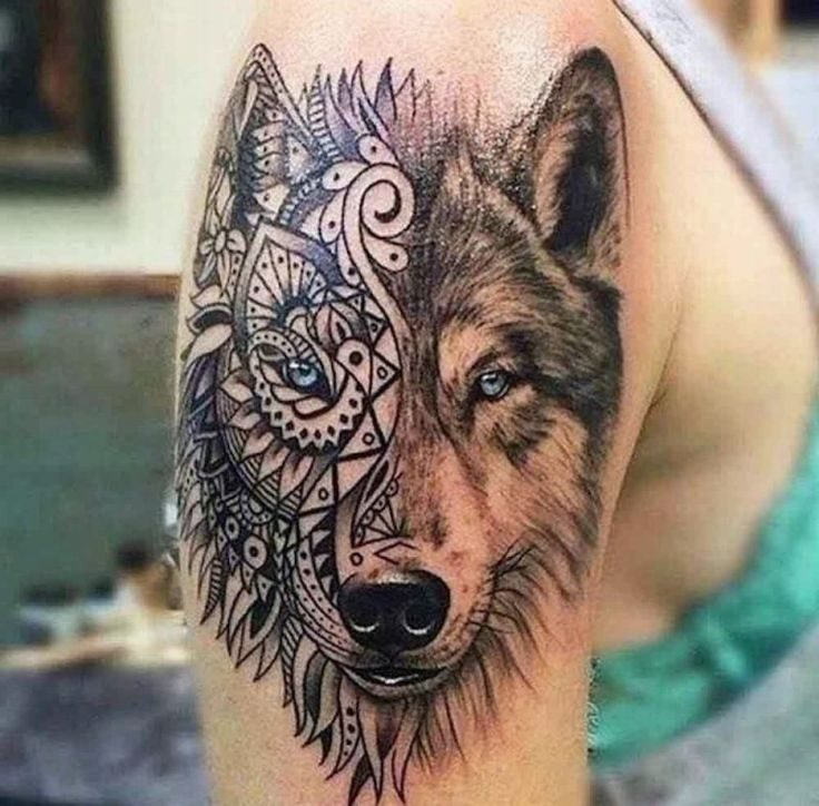 Tattoo Wolf - 60 inspiring ideas for men and women - Home decoration ...