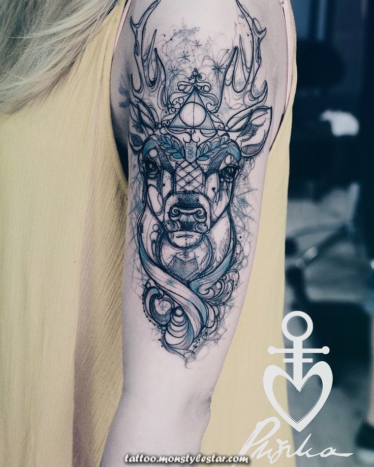 #patron #inkedbody #inkedgirl #deertattoo #tattoos @voice_of_ink_tattoo @Chell ...