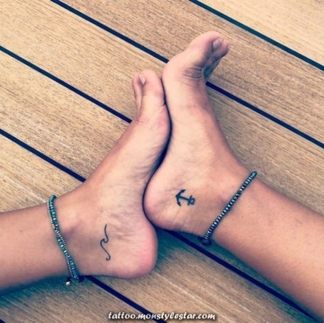 Anker tattoo motif: 54 great ideas for your next tattoo: Marie Wulf ...
