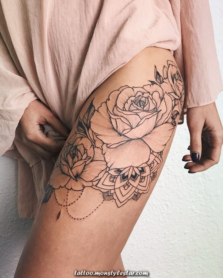 Bouquet of roses with mandala #veronicalilutattoo #FlowerTattooDesigns - Mascha ...
