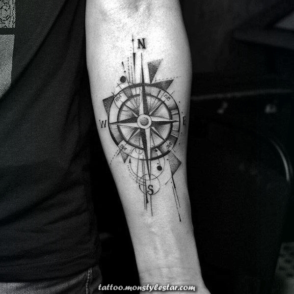 40 Designs of geometric tattoos with compass for men - Ideas of fresh geometry - ...
