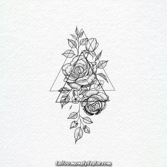 Drawing Flowers / Flower / Girl / Tattoo Feminine / Tatuagens Delica ...