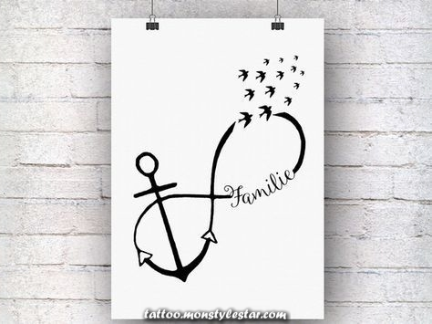 ** Family, infinity and love, everything is captured in this beautiful anchor ...