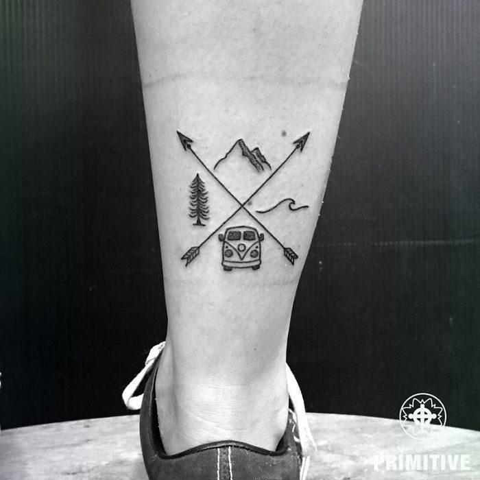 Instead of stamps in your passport: with these tattoos is shown every ...