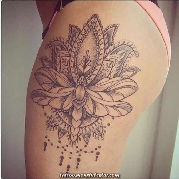 , Lots of space for many details and unusual ideas of tattoos: the thighs ...