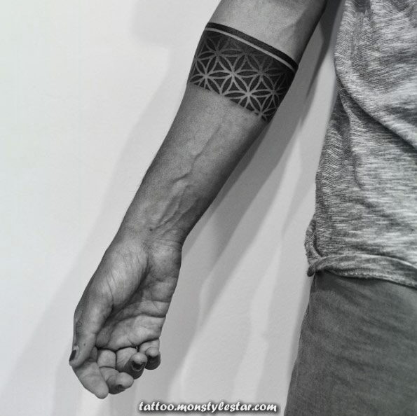 More than 40 tattoos with bracelet style for men and women - JCF112