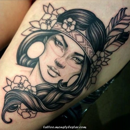 Native American tattoos - TOP 100 - for the free spirit - stephanie uhlich