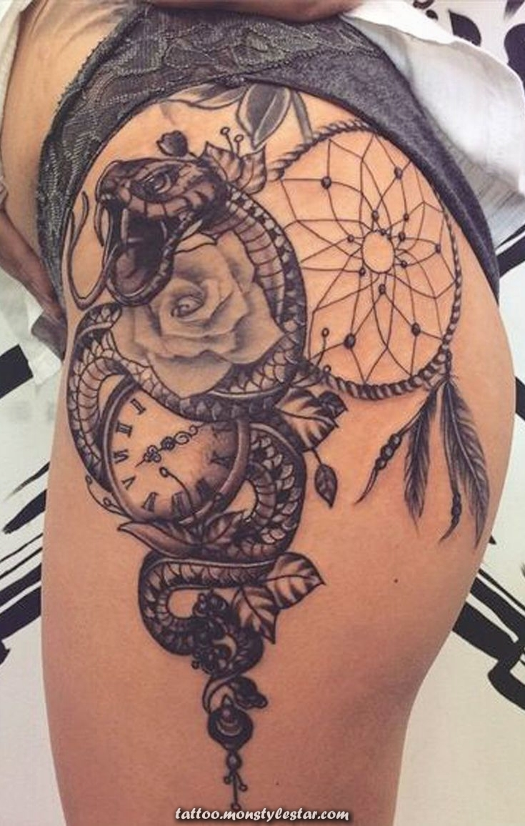 Unique ideas for the Dreamcatcher thigh tattoo for women - Leggings with fresh owl design