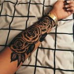 arm, big, black, flowers, girls, roses, tattoo, tattoo - Jacki