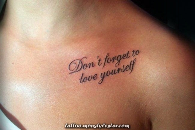 tattoo-writing-woman-shoulder-on-chest - Birgit Schmitz