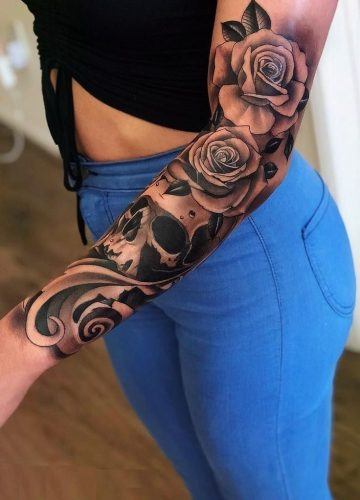 Feed your addiction with 50 of the most beautiful rose tattoo designs for men and ...