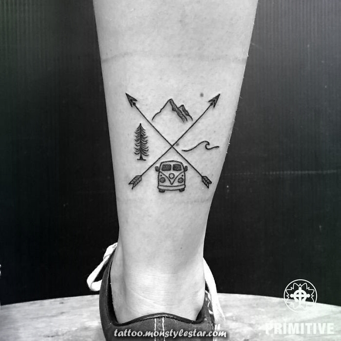 Instead of stamps in his passport: with these tattoos he shows everyone where he was, re ...